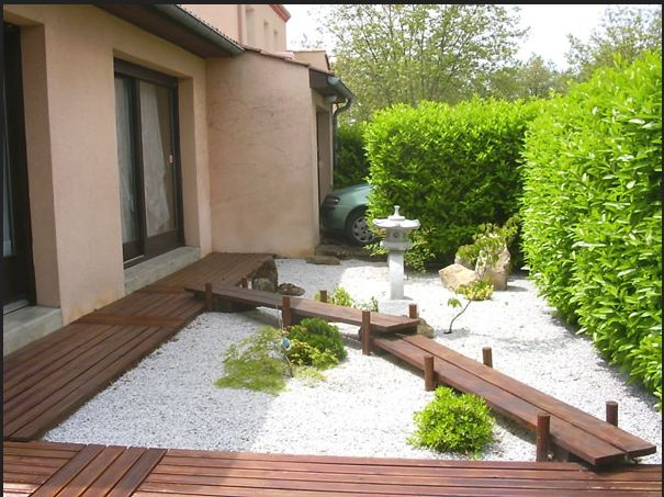 Beautiful Amenagement Jardin Avec Gravier Contemporary - Design ...