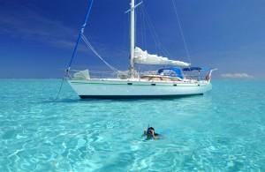 voilier sur la mer turquoise