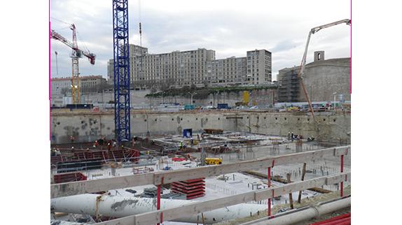 Les pompes submersibles Tsurumi pour assécher les fondations du MUCEM à Marseille